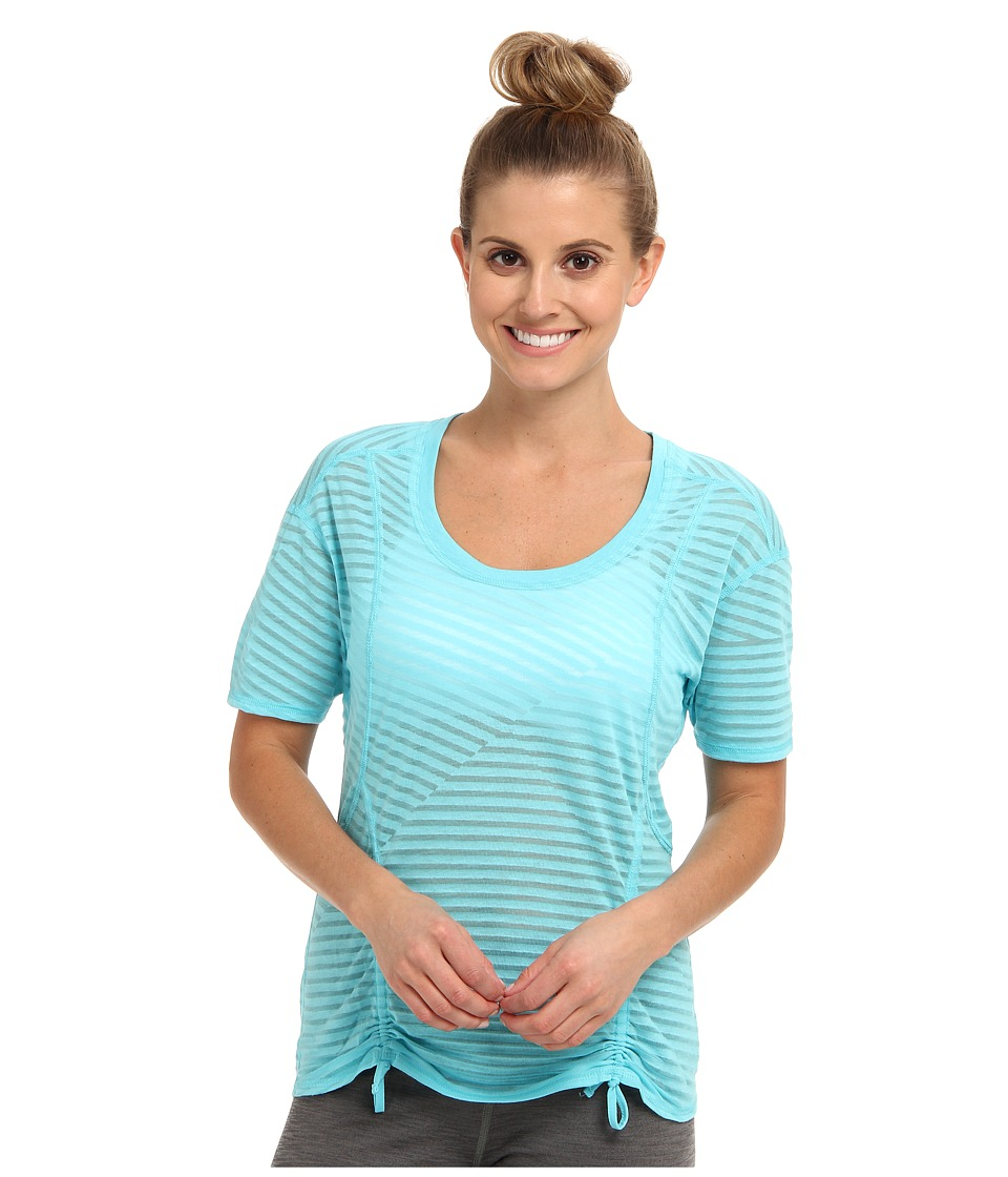Lucy - Worth The Weights S/S (Seafoam Blue) Women's Short Sleeve Pullover