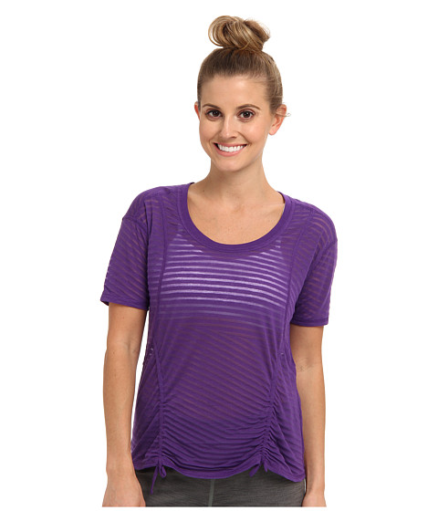 Lucy - Worth The Weights S/S (Purple Jewel) Women's Short Sleeve Pullover