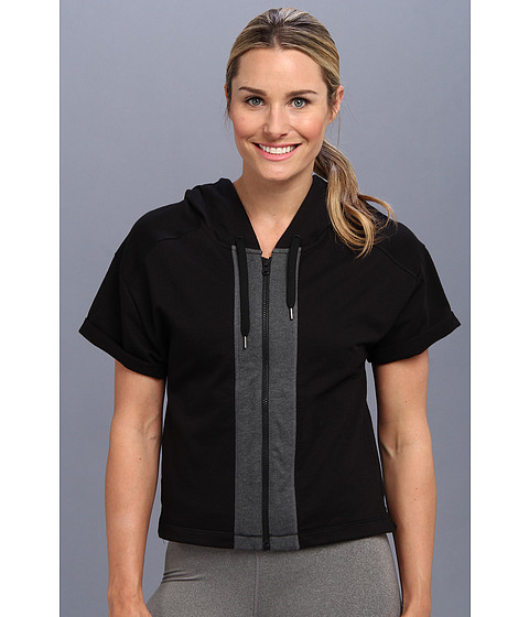 Lucy - Daily Practice Hoodie (Lucy Black/Asphalt Heather) Women's Sweatshirt
