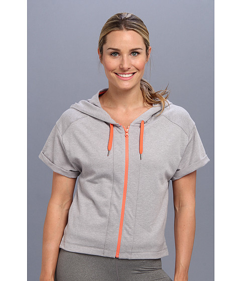 Lucy - Daily Practice Hoodie (Steel Grey Heather/Coral Dawn) Women's Sweatshirt