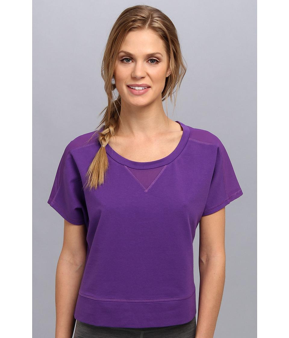 Lucy - Sun Salute Crop Pullover (Purple Jewel) Women