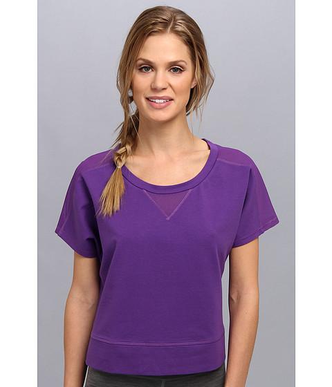 Lucy - Sun Salute Crop Pullover (Purple Jewel) Women's Workout