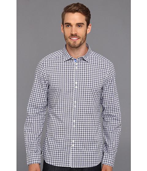 Buffalo David Bitton - Snyder L/S Shirt (Light Blue/White Plaid) Men