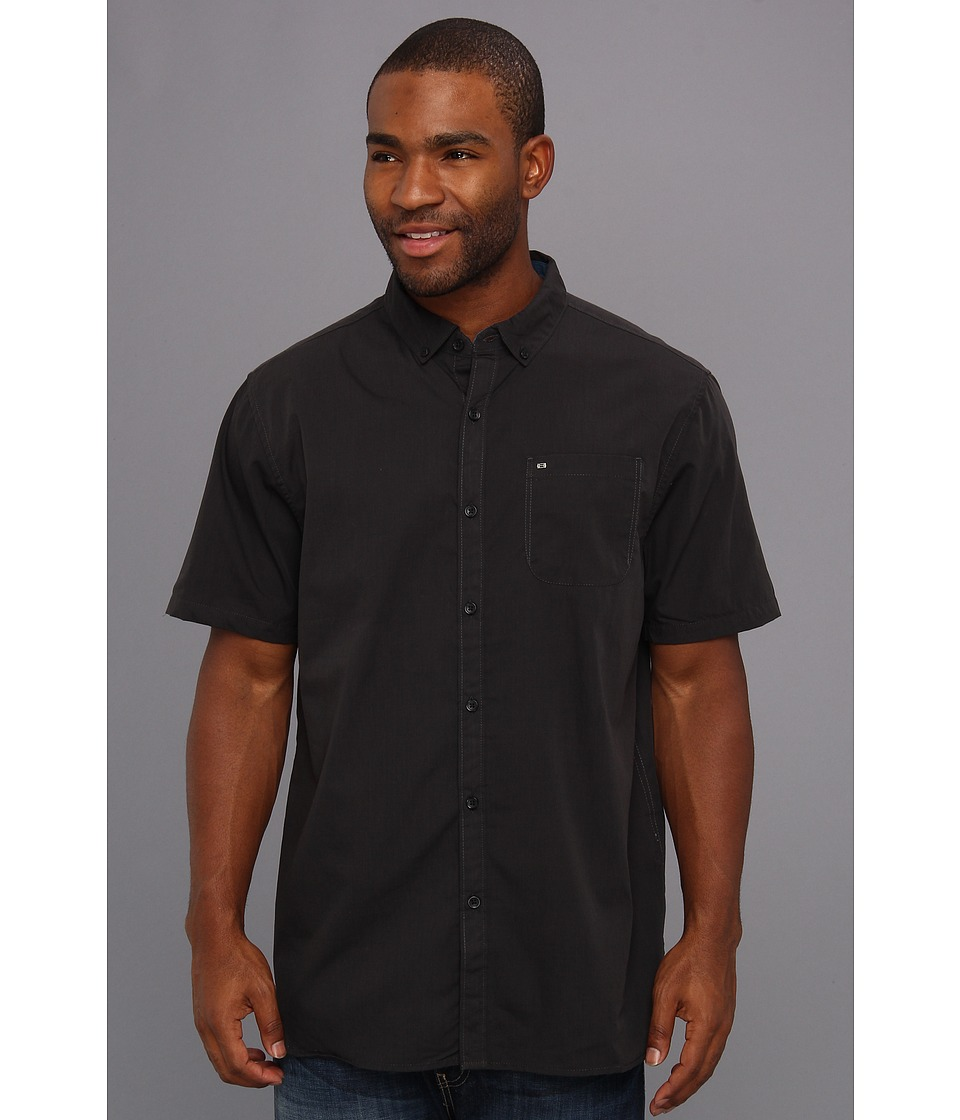 Billabong - All Day S/S Woven (Black 2) Men's Short Sleeve Button Up