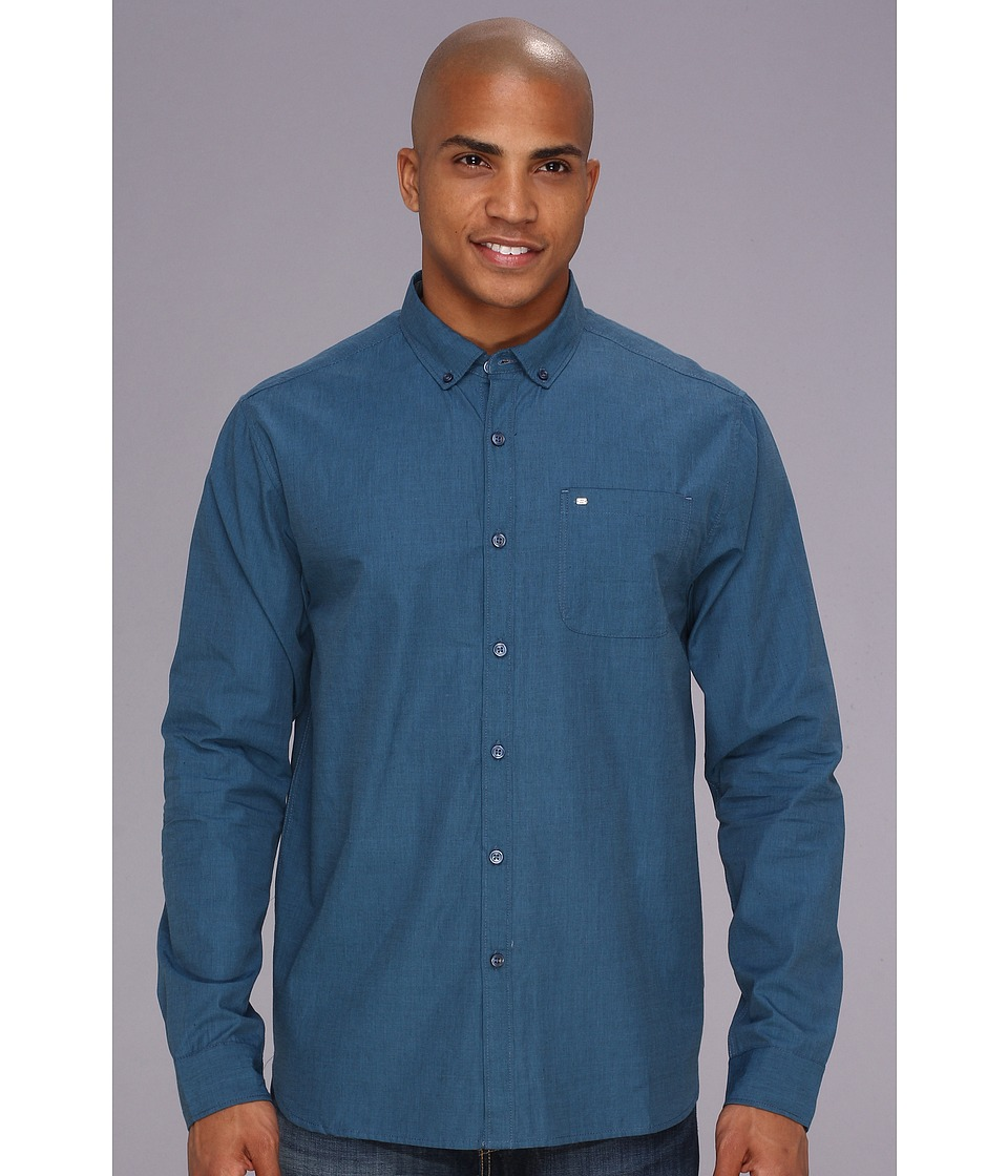 Billabong - All Day L/S Woven (Dark Blue) Men's Long Sleeve Button Up