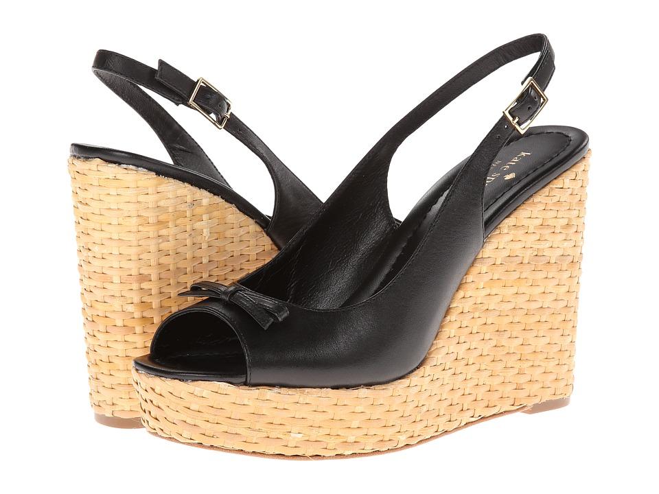 Kate Spade New York Della Womens Wedge Shoes (Black)