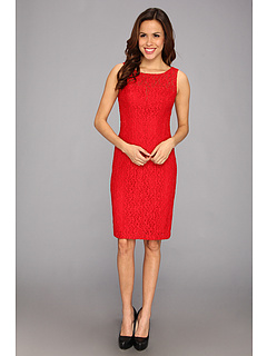 SALE! $54.99 - Save $84 on Anne Klein Rose Lace Fit Flare Layered Dress (Lipstick) Apparel - 60.44% OFF $139.00