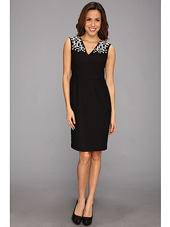 SALE! $42.99 - Save $86 on Anne Klein Geo Embellished Textured Weave Sheath (Black) Apparel - 66.67% OFF $129.00