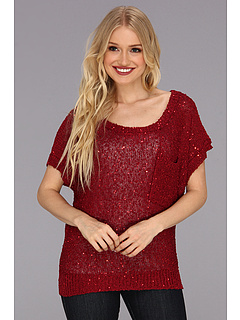 SALE! $16.99 - Save $52 on rsvp Erin Sparkle Sweater (Red) Apparel - 75.38% OFF $69.00