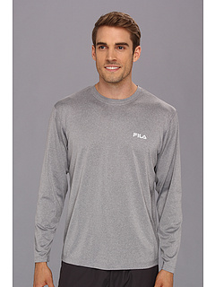SALE! $14 - Save $26 on Fila Hurdle Long Sleeve Top (Grey Heather) Apparel - 65.00% OFF $40.00