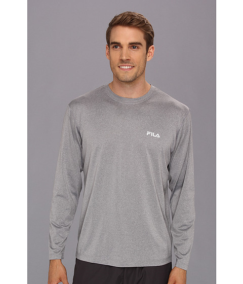 Fila - Hurdle Long Sleeve Top (Grey Heather) Men's T Shirt