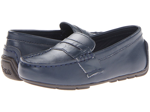 Polo Ralph Lauren Kids - Telly (Toddler) (Navy Leather) Boy's Shoes