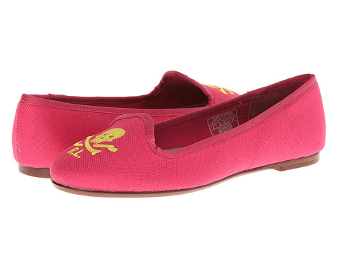 Ralph Lauren Collection Kids - Jayde (Toddler/Little Kid/Big Kid) (Ultra Pink w/RL Script) Girls Shoes
