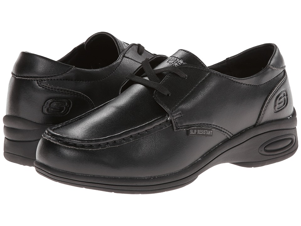 SKECHERS Work - Kobbler (Black) Women's Lace up casual Shoes
