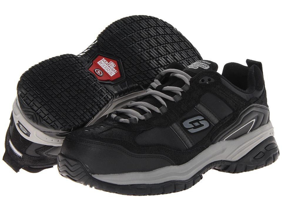 SKECHERS Work - On Site - Robson (Black/Grey) Men's Shoes