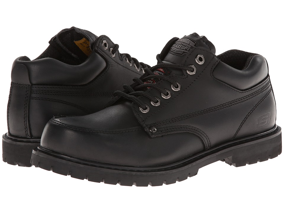 SKECHERS Work - Cottonwood (Black) Men's Work Lace-up Boots