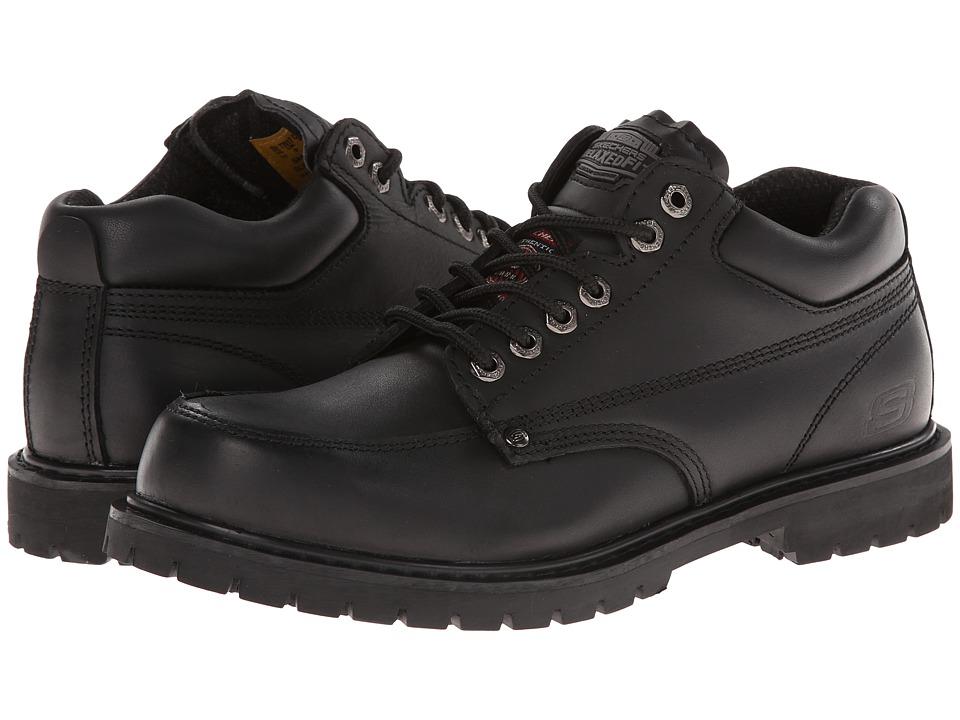 SKECHERS Work - Cottonwood (Black) Men's Work Lace-up Boots