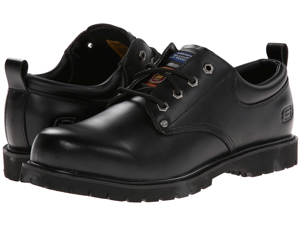 SKECHERS Work - Work Alley (Black) Men's Shoes