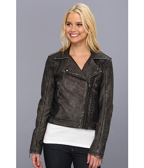 Sam Edelman Circus by Sam Edelman Faux Leather Moto Jacket (Black) Women's Coat
