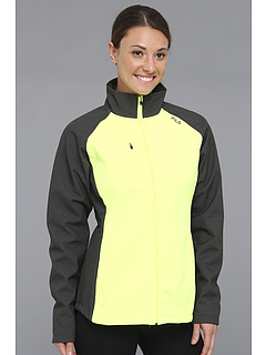 SALE! $30 - Save $70 on Fila Colorblocked Bonded Jacket (Charcoal Heather Safety Yellow) Apparel - 70.00% OFF $100.00
