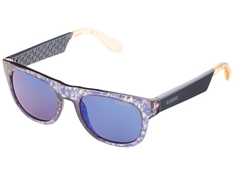 Carrera - Carrera 5006/S (Camouflage Blue/Multilayer Blue) Fashion Sunglasses