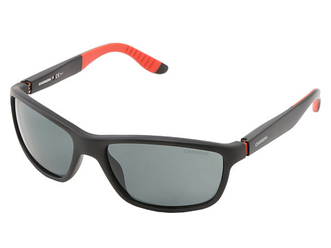 Carrera - Carrera 8000/S (Rubber Black/Gray Polarized) Plastic Frame Fashion Sunglasses