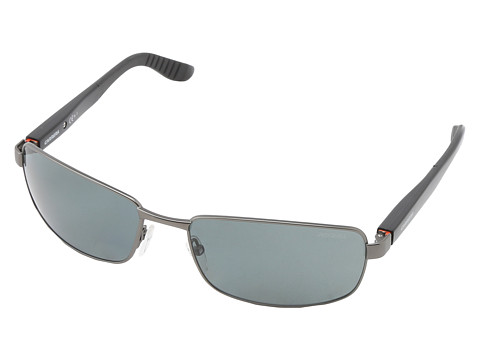 Carrera - Carrera 8004/S (Smooth Dark Ruthenium/Gray Polarized) Metal Frame Fashion Sunglasses