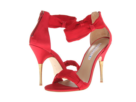 David Tutera Pretty (Red Satin) Women's Dress Sandals