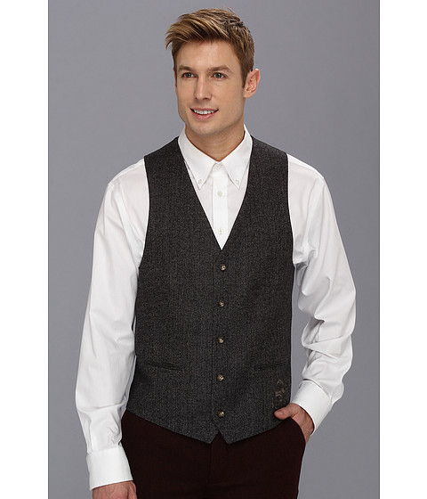 Moods of Norway - Victor Herringbone Suit Vest (Cox Herringbone) Men's Vest