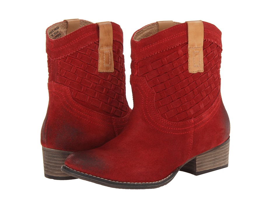 Diba - Free Pass (Red/Tan) Women's Pull-on Boots