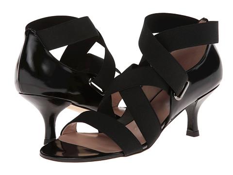 Stuart Weitzman - Belted (Black Elastic) High Heels