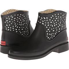 Chooka Perforated Bootie (Black) Footwear