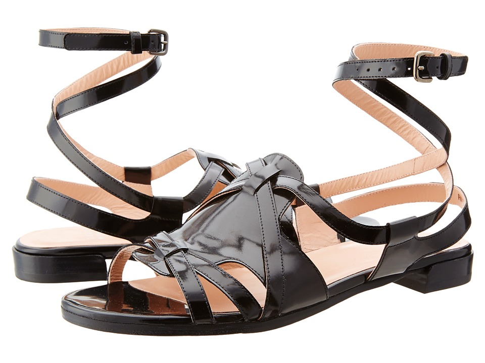 Stuart Weitzman - Greek (Jet Mirror) Women's Sandals