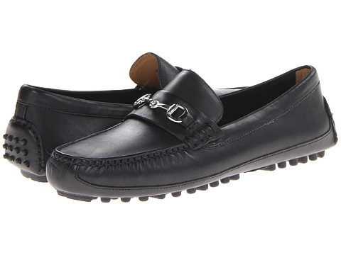 Cole Haan - Grant Canoe Bit (Black) Men's Slip on Shoes