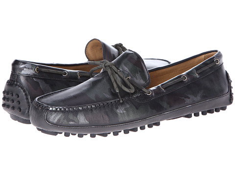 Cole Haan - Grant Canoe Camp Moc (Black Camo) Men's Slip on Shoes