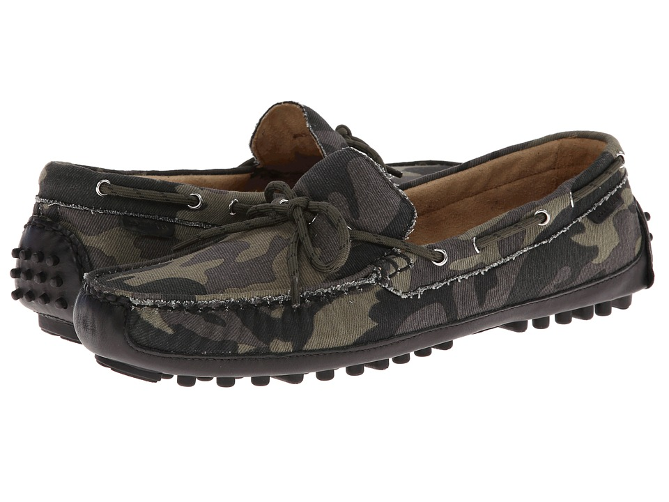 Cole Haan - Grant Canoe Camp Moc (Forest Camo Canvas) Men's Slip on Shoes