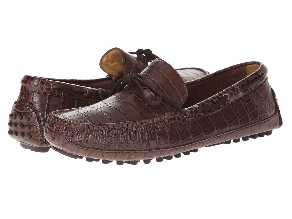 Cole Haan - Grant Canoe Camp Moc (Chestnut Croc Print) Men's Slip on Shoes