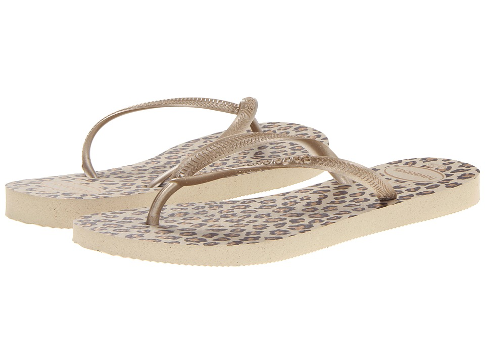 Havaianas - Slim Animals Flip Flops (Sand Grey) Women