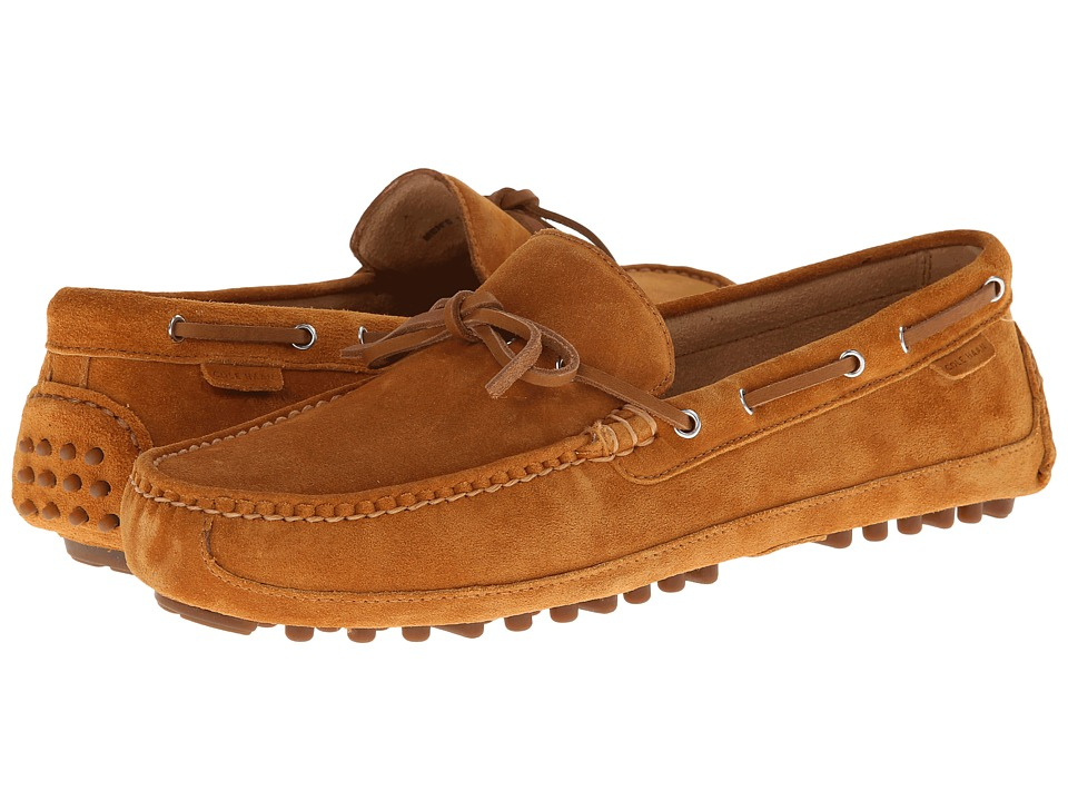 Cole Haan - Grant Canoe Camp Moc (Camello Suede) Men's Slip on Shoes