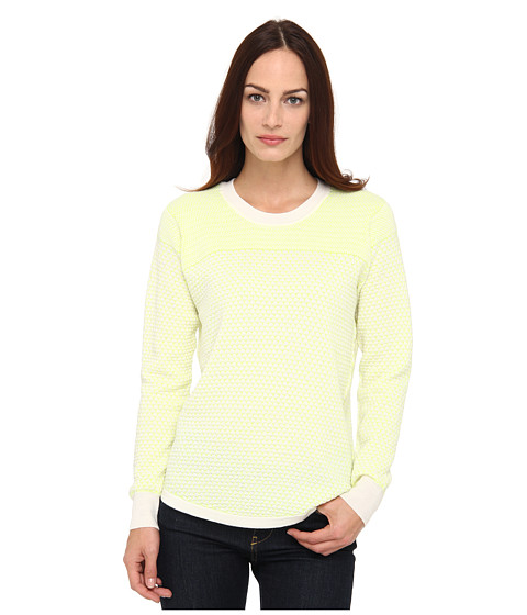 Paul Smith - Knitted Jumper (White/Lime) Women's Sweater