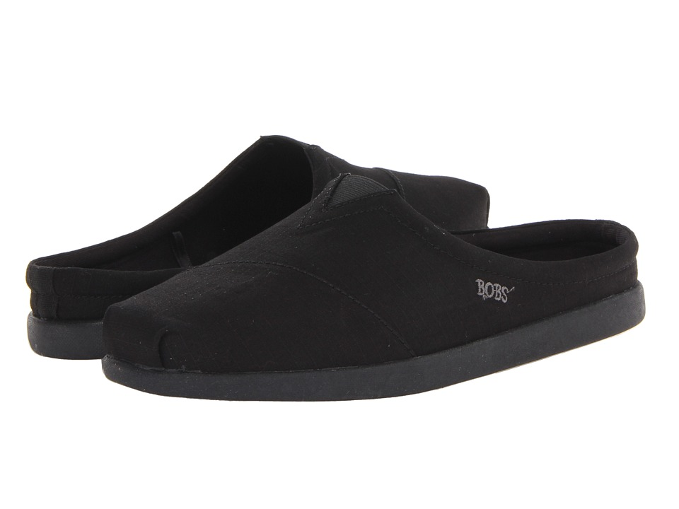 BOBS from SKECHERS - Bobs World - Kickers (Black) Women's Slip on Shoes