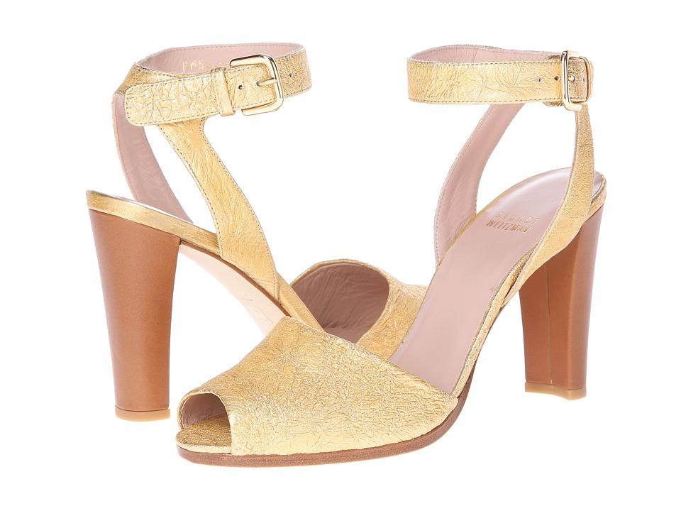 Stuart Weitzman Waycool (Oro Foil Nappa) High Heels