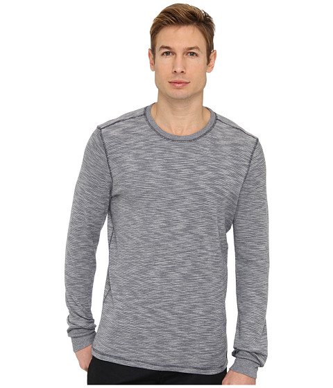 Jack Spade - Benning Stripe Thermal (Peacoat) Men's Long Sleeve Pullover