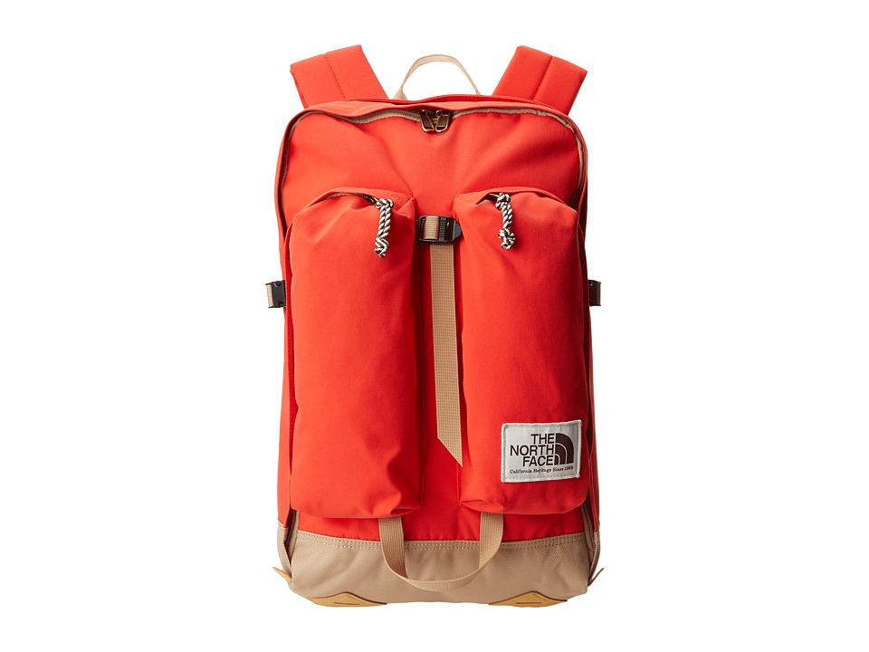 The North Face - Crevasse (Fiery Red/Moab Khaki) Backpack Bags