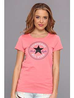 SALE! $14.99 - Save $10 on Converse Tricolor Chuck Patch Tee (Carnival Pink) Apparel - 40.04% OFF $25.00