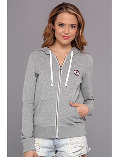 SALE! $34.99 - Save $25 on Converse French Terry Chuck Patch Full Zip Hoodie (Grey Heather) Apparel - 41.68% OFF $60.00