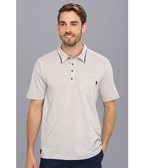 Oakley - Propeller Polo (Stone Grey) Men's Short Sleeve Knit
