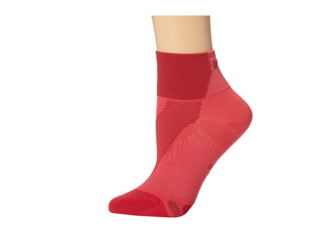 Nike - Hyper-Lite Convertible Quarter (Geranium/Legion Red/Legion Red) Quarter Length Socks Shoes