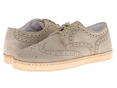 Armani Jeans - Wingtip Sneaker (Beige) Men's Lace up casual Shoes