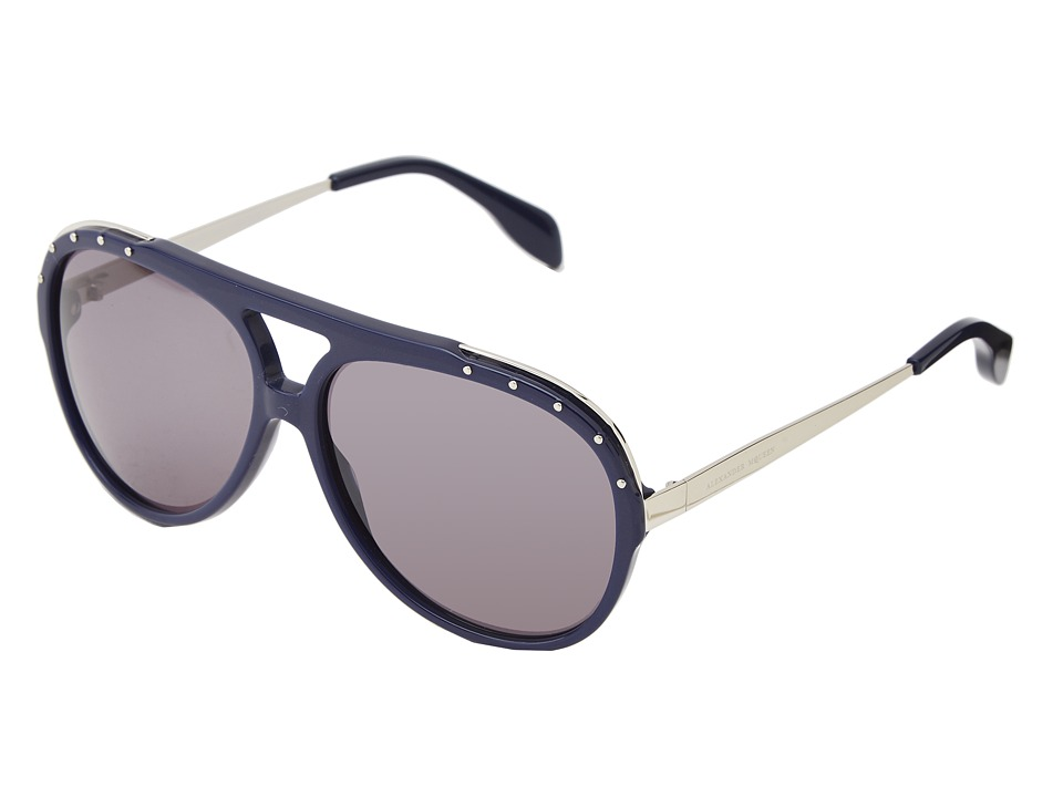 Alexander McQueen - AMQ4240/S (Blue/Smoke) Fashion Sunglasses